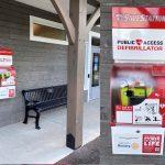 Outdoor defibrillator installed giving 24/7 access in cardiac emergencies